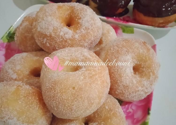 Cara Mudah Masak: Donut gebu gebas uli tangan  Termudah