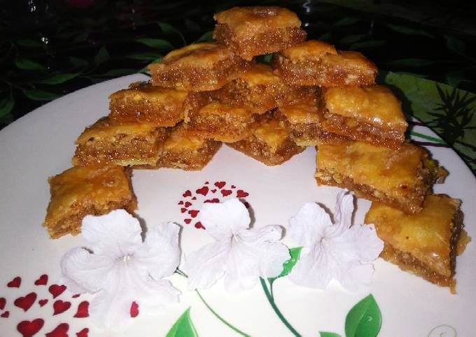Middle Eastern baklava recipe