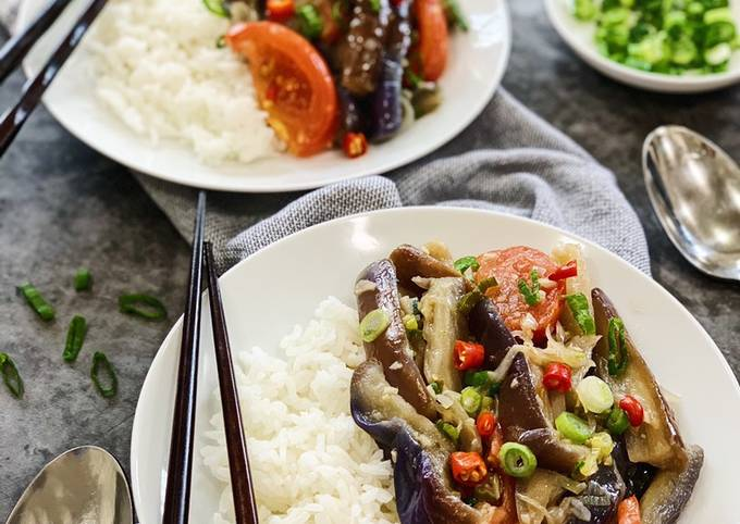 Eggplant Oyster Sauce Stir Fry