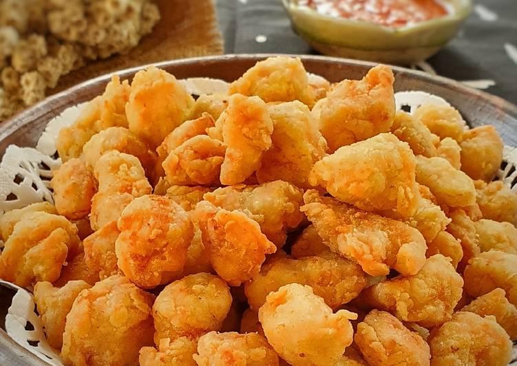 166. Ayam Popcorn Renyah (Crispy Popcorn Chicken)