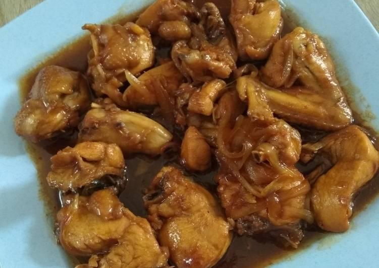 Ayam kecap (menu anak)