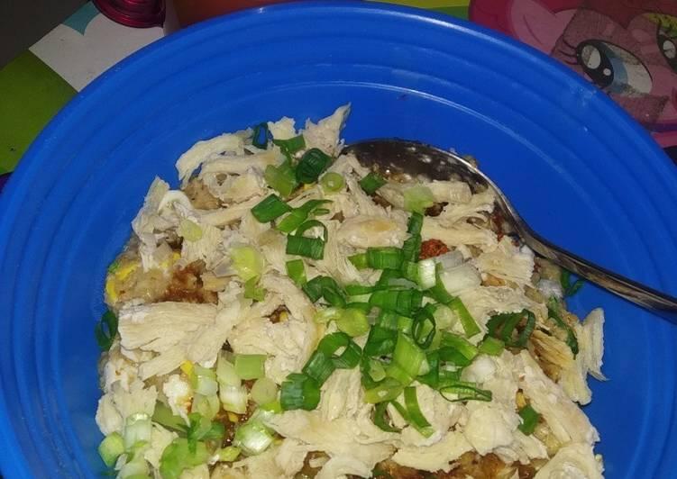 Bubur ayam oatmeal (cocok untuk diet)
