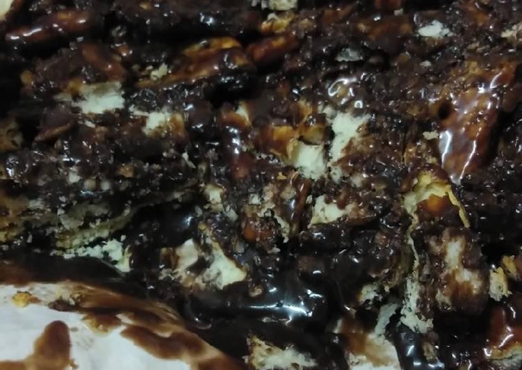 Resepi:  Kek Batik Bajet, Biskut Hup Seng + Krimer Coklat Saji  Sempena PKP