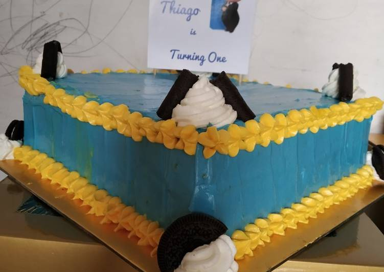 "Resep: Lezat Birthday Cake ""dd Thiago"""