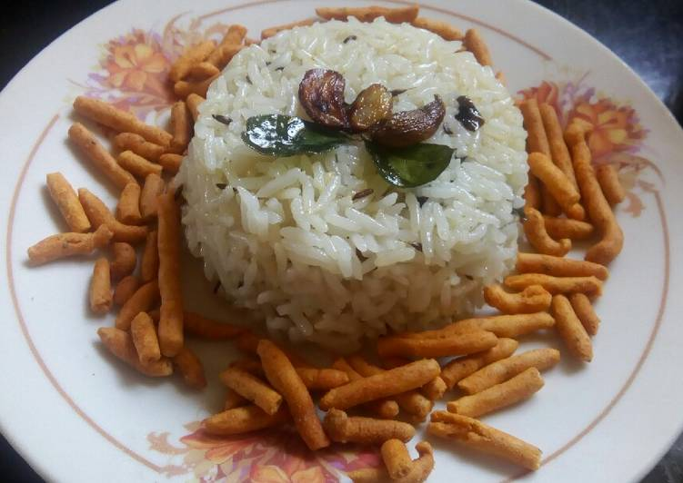 Easy Garlic jeera rice