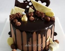 Cara menghias kue tart    Choco Drip Cake