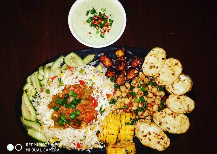 Step-by-Step Guide to Make Quick Cottage Cheese Shalmargo with assorted veggiee sizzler