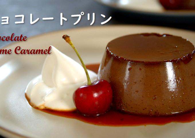 Chocolate Creme Caramel (Chocolate Custard Pudding)