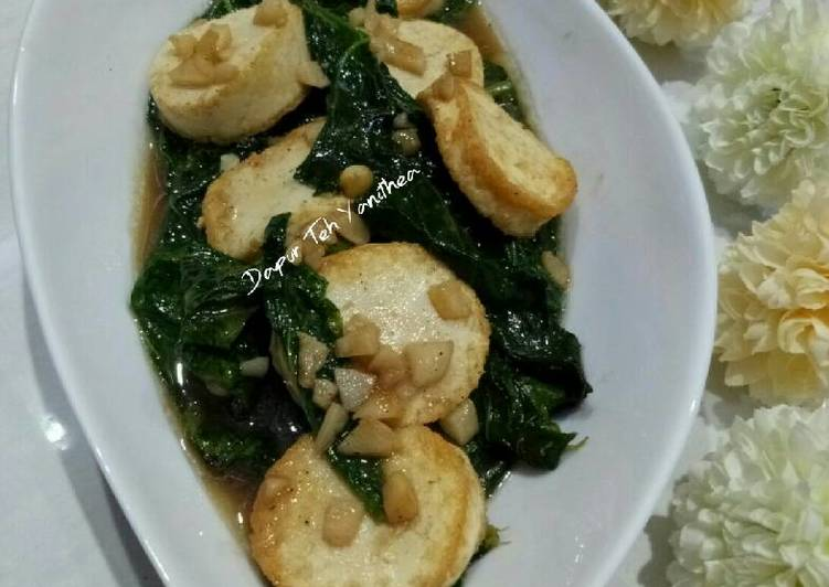 Tumis Kailan Tofu Saus Tiram Bawang Putih