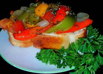 How to Recipe Delicious Mikes Garden Peperonata On Toasted French Bread