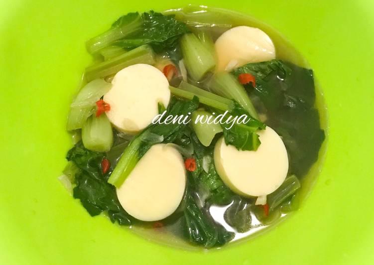Tumis Pakcoy Tofu Saus Tiram