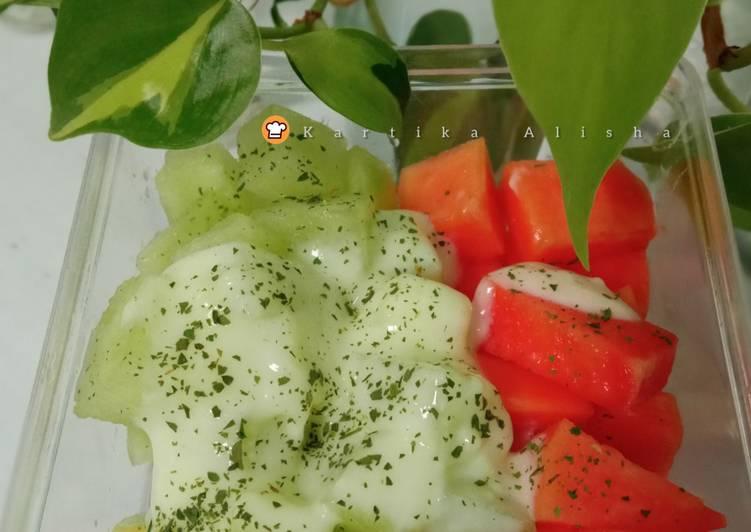 Salad buah no mayonaise (Sweet Pamela) - cookandrecipe.com