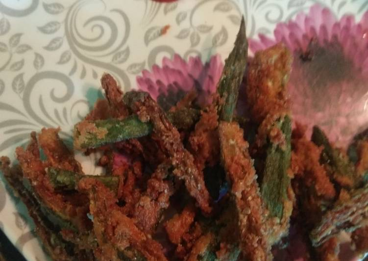 Recipe of Any-night-of-the-week Crispy bhindi