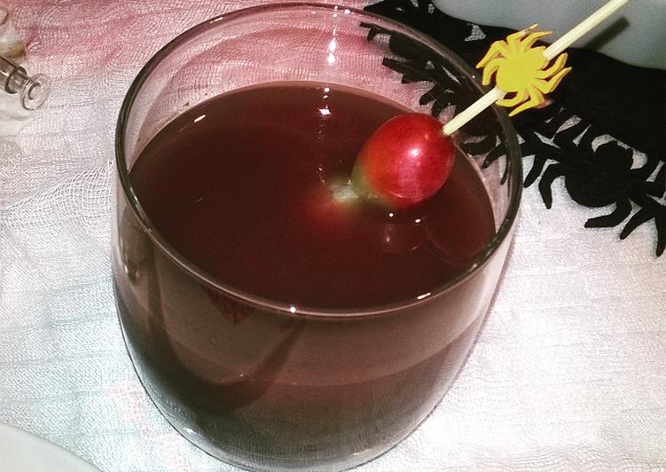 ☆Soupe de raisins et quetsches rôties☆