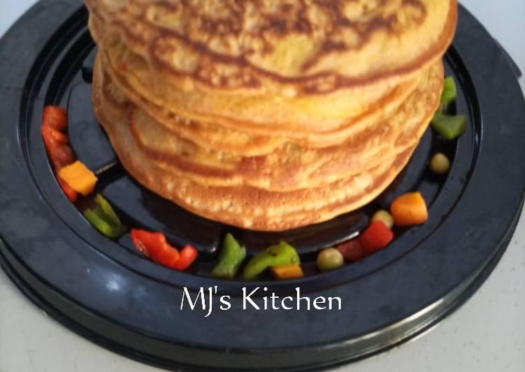 Veggie mango pancakes