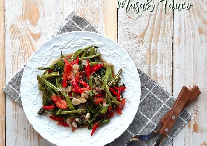 kangkung masak tauco - resepenakbgt.com