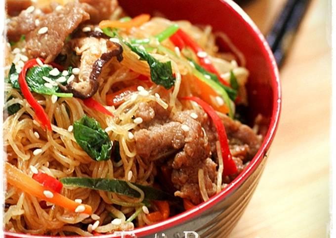 resep japchae korea sederhana Resep Japchae with Beef Korean Noodle,aka Soun Ala Korea pake