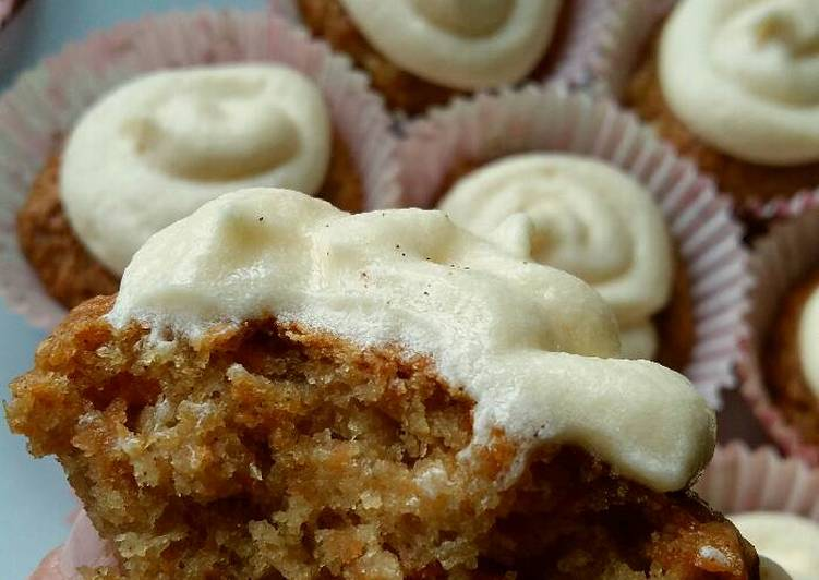 Recipe: Perfect Vickys Carrot Cake Cupcakes, GF DF EF SF NF