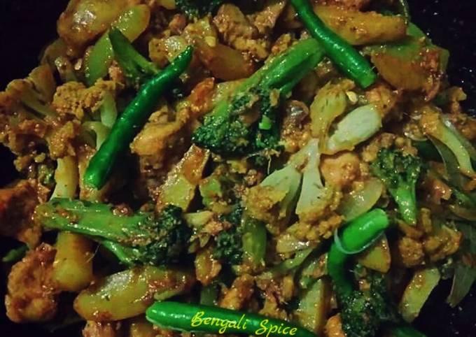 Recipe of Homemade Chicken Broccoli (fusion recipe in my style) 💛