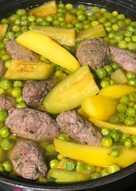 Рагу с овощами и кулачками из фарша - ужин для всей семьи