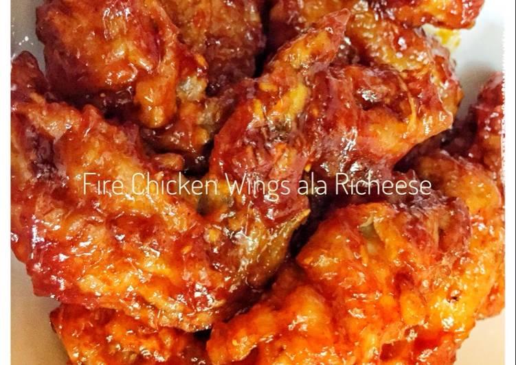 Fire Chicken Wings ala Richeese