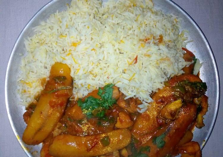 Simple Way to Make Speedy Carrot rice with matoke #myricedish