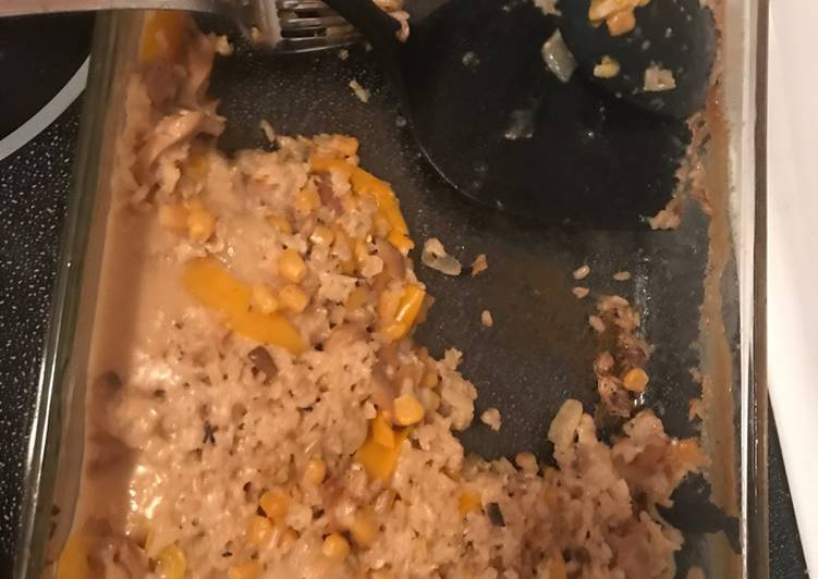 Pork & mushroom casserole