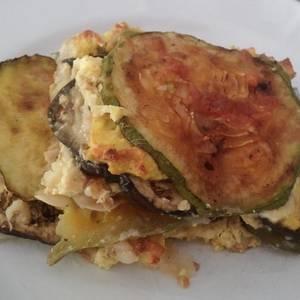 Tarta lasaña de Berenjena, Zapallito y Ricotta