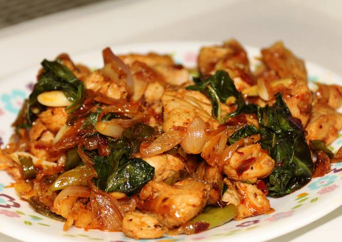 Basil chicken- quick and yum