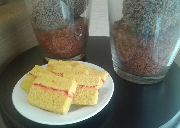 Resep Bolu Kukus Durian Selai Stroberi,,, Dijamin Endes