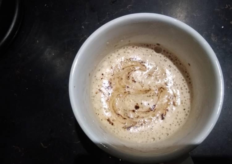 Simple Way to Make Speedy Hand beaten foamy coffee