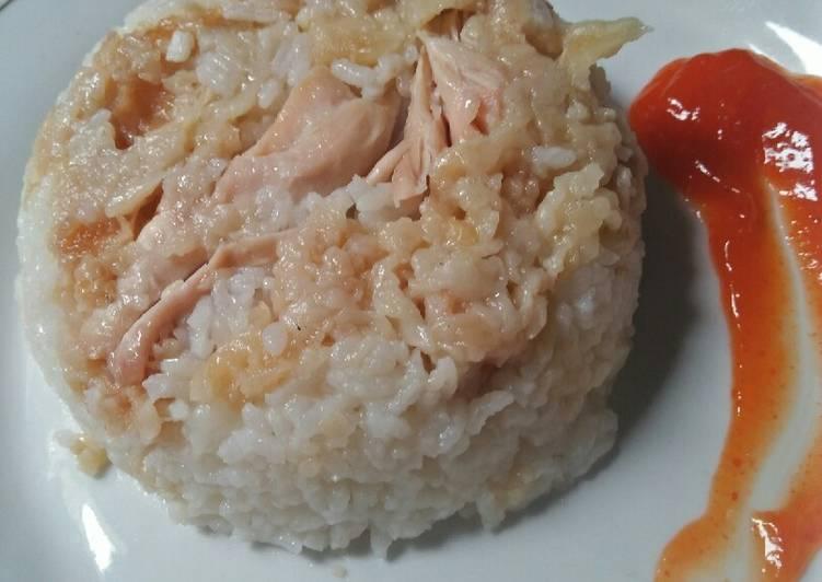 Nasi ayam kfc ricecooker