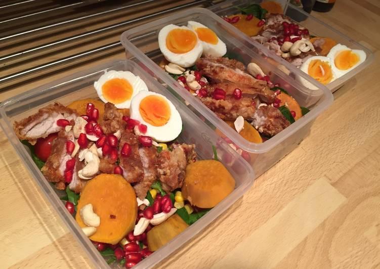 Meal prep - Chinese Garlic Chicken Salad