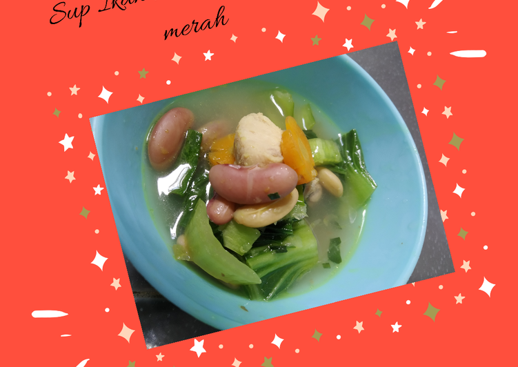 Sup ikan Marlin kacang merah