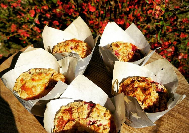 Muffins crumble framboises yuzu