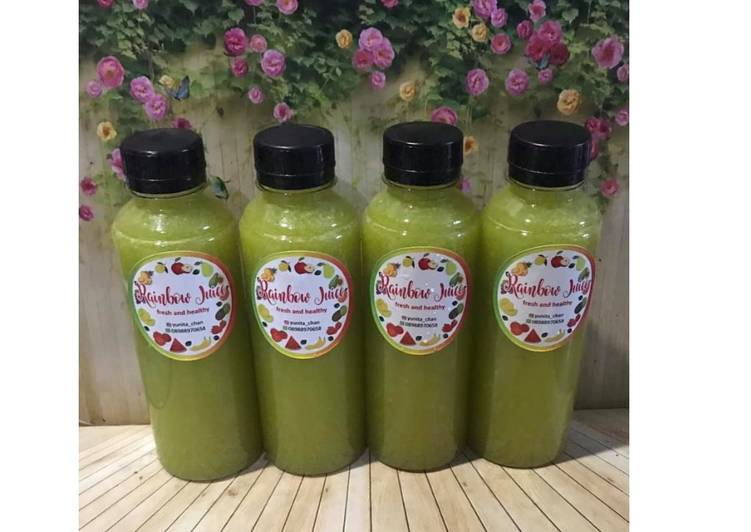 Resep Diet Juice Pokchoy Cucumber Orange Mango Lemon