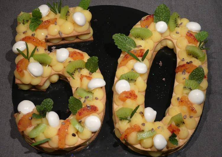 Number cake - 50 ans