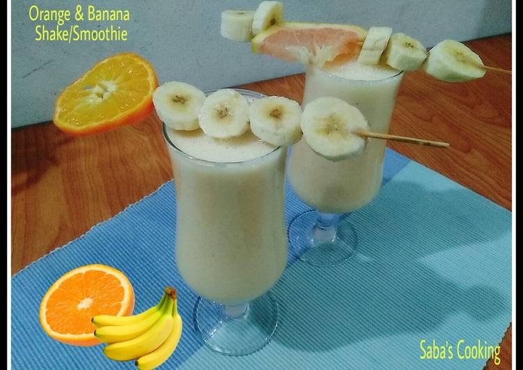 Orange and Banana Shake / Smoothie