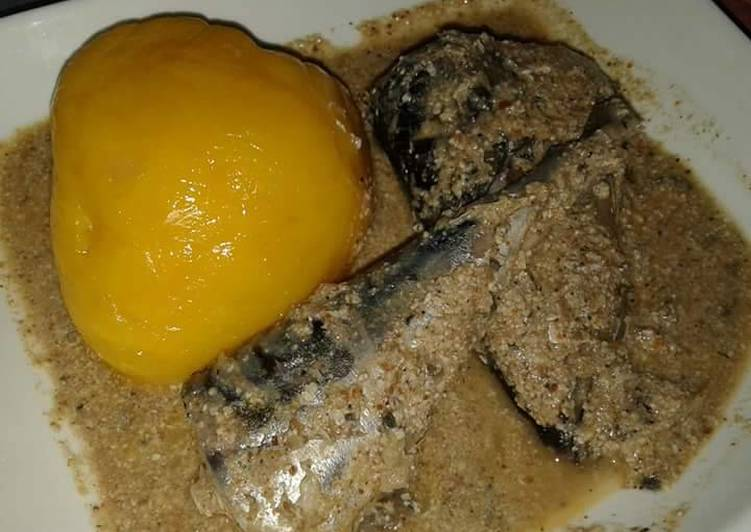 Easiest Way to Make Favorite Starch with titus fish and egusi