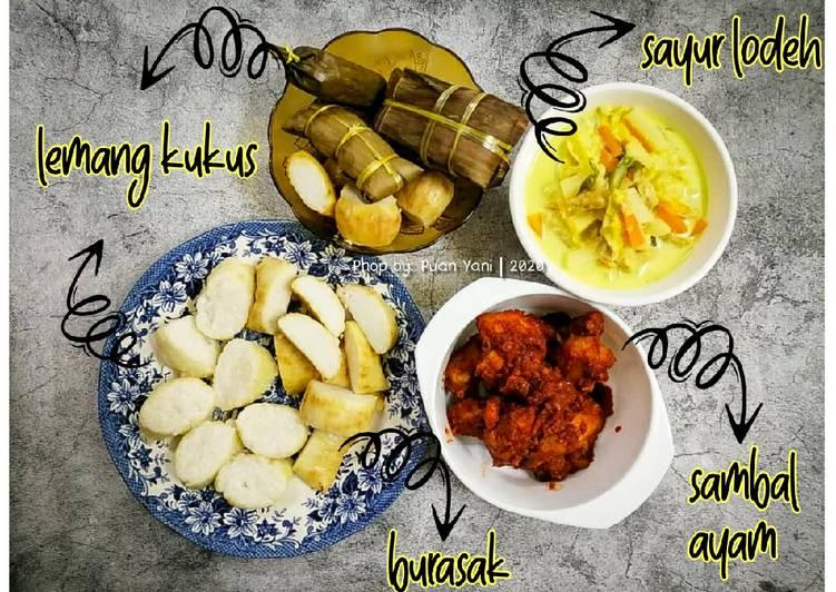 Burasak Bugis, Lemang Kukus bersama Sayur Lodeh & Sambal Ayam - velavinkabakery.com