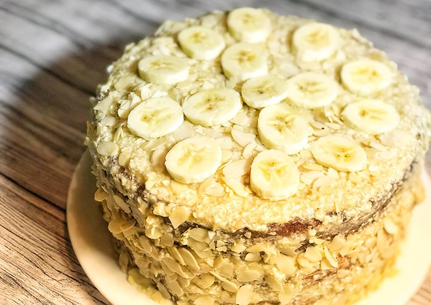 украсить банановый торт простой рецепт с фото ногтевой пластины