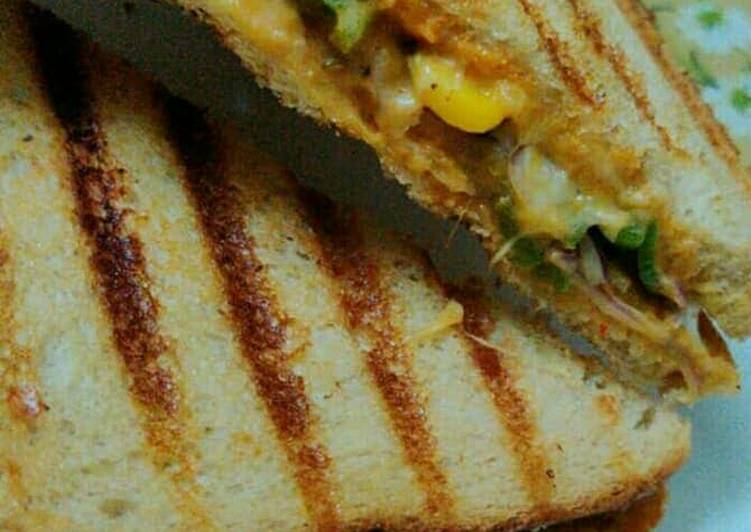 Grilled cheese corn sandwich