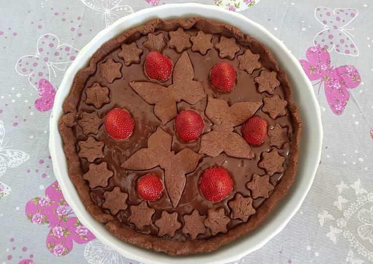 Ricetta Crostata al cioccolato e fragole