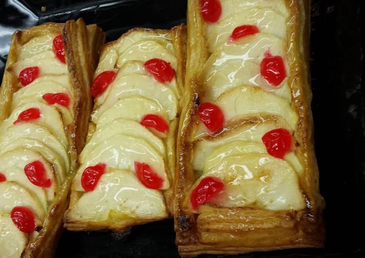 Mini tarta de hojaldre de manzana