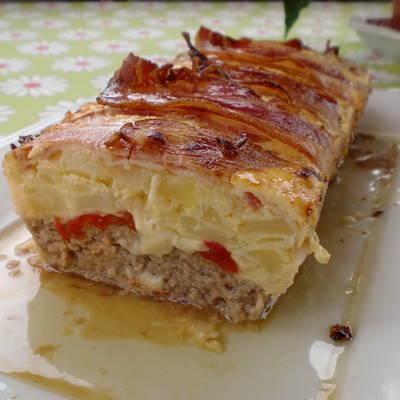 Pastel De Carne Bacon Y Tortilla Receta De Gloria Cookpad