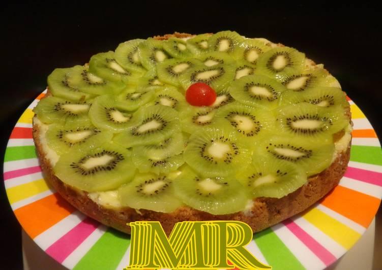 Tarta de queso  y fruta (Microondas)