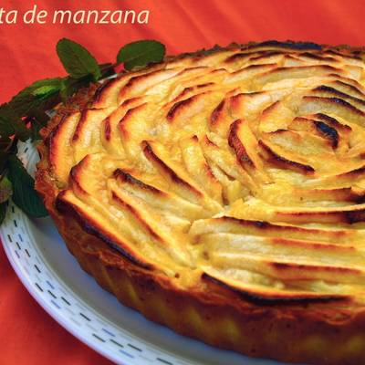 Tarta De Manzana Y Crema Pastelera Receta De Cristina Alimenta Cookpad