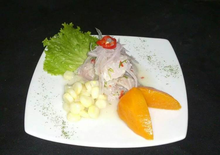 Ceviche Peruano De Pescado Receta De Roberesparza Cookpad