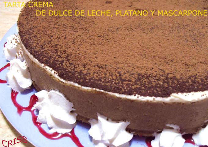 Tarta Crema De Dulce De Leche Plátano Y Mascarpone Receta De Cristina Alimenta Cookpad