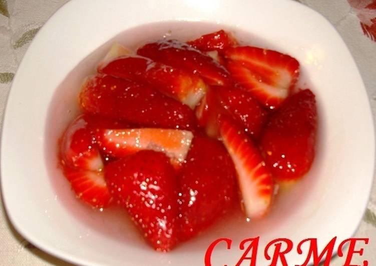 Receta para hacer fresas en almibar